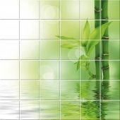 vinilo azulejos bambú