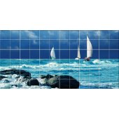 vinilo azulejos mar yate