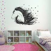 Vinilo decorativo cabeza de caballo