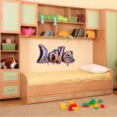 Vinilo decorativo graffiti love
