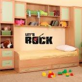 Vinilo decorativo let's rock