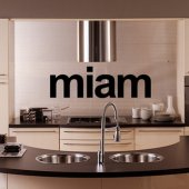 Vinilo decorativo Miam