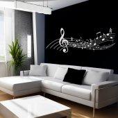 Vinilo decorativo pentagrama musical