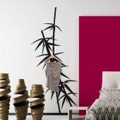 Vinilo decorativo Perchero bambú