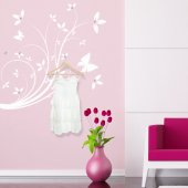 Vinilo decorativo Perchero floral