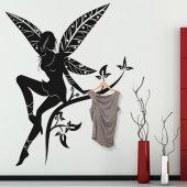 Vinilo decorativo Perchero hada