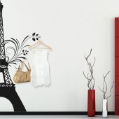 Vinilo decorativo Perchero Tore eiffel