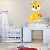 Vinilo infantil bebé león