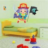 Vinilo infantil chica pirata