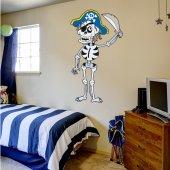 Vinilo infantil esqueleto