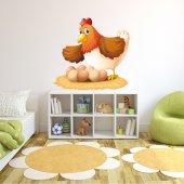 Vinilo infantil gallina