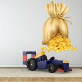 Vinilo infantil Moneda de oro