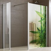 Vinilo para mampara de ducha bambú