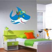 Wandsticker Hai