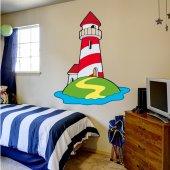 Wandsticker Leuchtturm