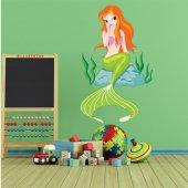 Wandsticker Meerjungfrau