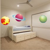 Wandsticker Planeten Set