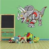 Wandsticker Triceratops