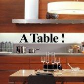 Wandtattoo A Table