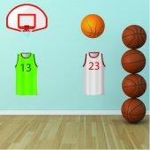 Wandtattoo Basketball Zubehör Set