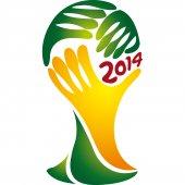 Wandtattoo Fußball Weltmeisterschaft Brasilien 2014