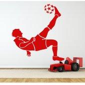 Wandtattoo Fußballspieler