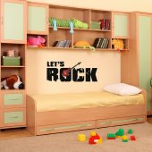 Wandtattoo Let's rock