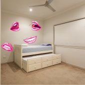 Wandtattoo Lippen Set