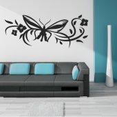 Wandtattoo Schmetterlingsblume