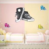 Wandtattoo Schuhe Set