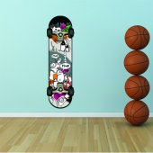 Wandtattoo Skateboard