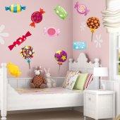 Wandtattoo Süßigkeiten Set