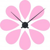 Wandtattoo-Uhr Blume