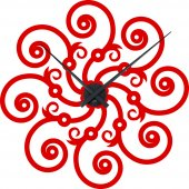Wandtattoo-Uhr Ornament