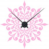 Wandtattoo-Uhr Ornament