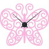 Wandtattoo-Uhr Schmetterling
