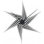 Wandtattoo-Uhr Stern