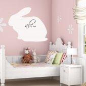 Wandtattoo Velleda weisse Tafel Kaninchen