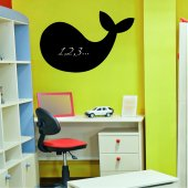 Whale - Chalkboard / Blackboard Wall Stickers