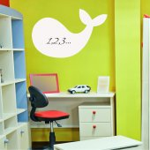 Whale - Whiteboard Wall Stickers