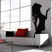 Woman Blowing Wall Stickers