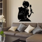 Woman Chalkboard / Blackboard Wall Stickers