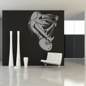 Woman Guitarist Wall Stickers