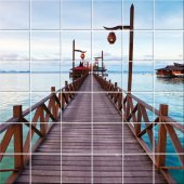 Wooden Pontoon - Tiles Wall Stickers
