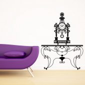 Wrought iron table Wall Stickers