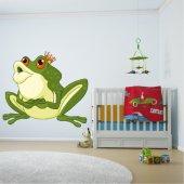 Autocollant Stickers enfant prince grenouille