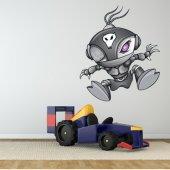 Autocollant Stickers enfant robot alien
