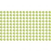 160 green rhinestone sticker