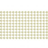 160 white rhinestone sticker