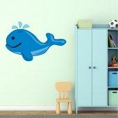 Adesivo Murale bambino balena